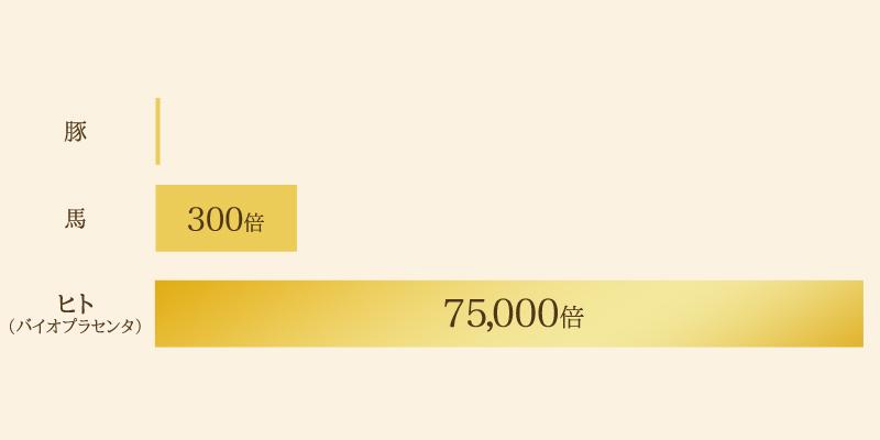 75,000倍濃度のヒト型プラセンタ